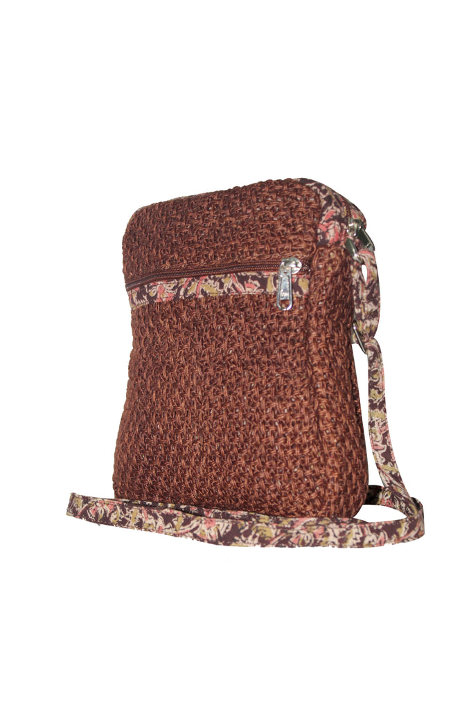 Cutie - Jute Cross Body Bag - Brown (JK1204)