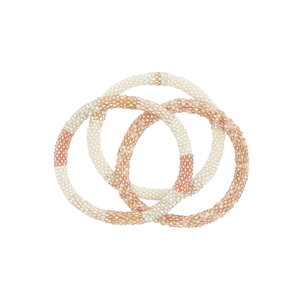Rosé all day bracelet trio 5