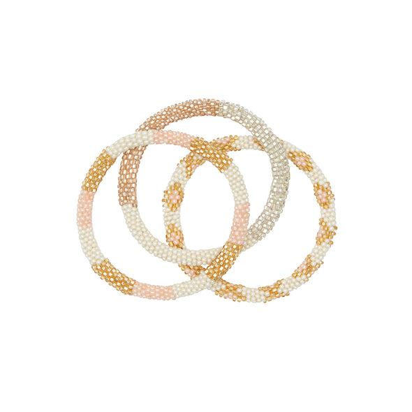Rosé all day bracelet trio 2