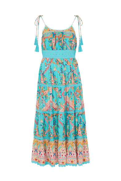Maya dress in turquoise
