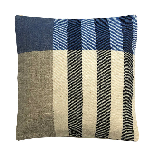 Cushion Cover Wool Blue Stripes