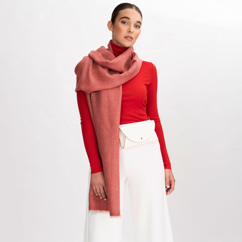 Scarf Coral Red