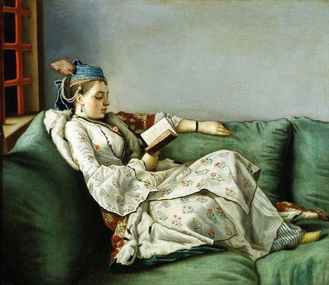 Adelaide of France in Turkish Clothes - Etienne Liotard