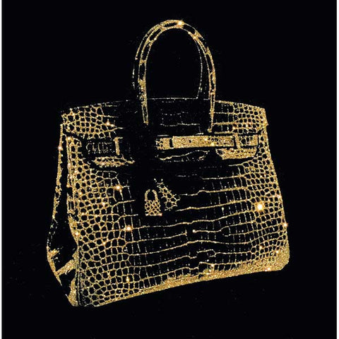 Birkin Gold Glitter on Black