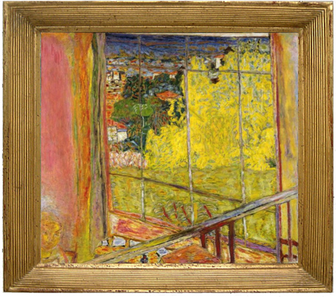 The Studio with Mimosa - Bonnard Pierre