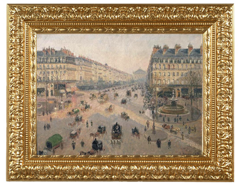 Avenue de l'Opera: Sunshine Winter Morning - Camille Pissarro