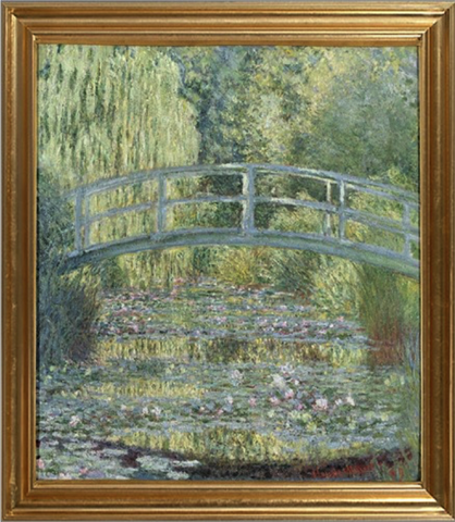 Waterlily Pond, Harmony in Green - Claude Monet