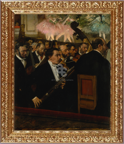The orchestra of the opera - Edgar Degas