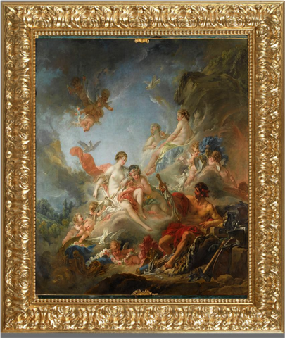Vulcan Presenting Venus with Arms for Aeneas - François Boucher