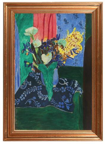 Blue Vase with Flowers on a Blue Tablecloth – Henri Matisse