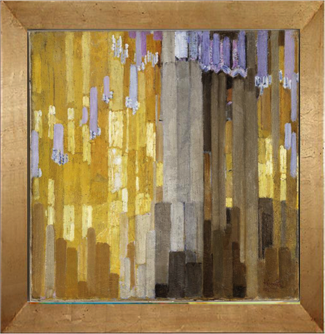 Arrangement of Yellow and Grey Vertical Lines - Frantisek Kupka
