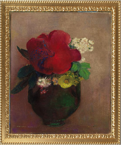 Vase with a Red Poppy – Odilon Redon