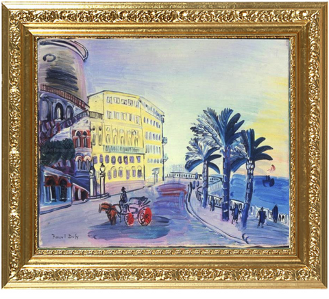 "The Swiss Hotel in Nice and the ""Rauba Capeu"" bend  - Raoul Dufy"