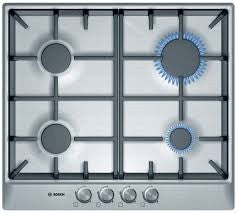 PCP615B90 - Bosch 60cm Gas Hob - Stainless Steel