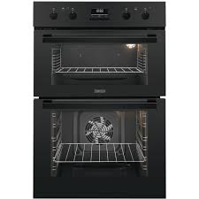 Zanussi Built-In Double Oven -Black