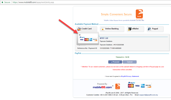 Topware Solution - Ipay88 payment page