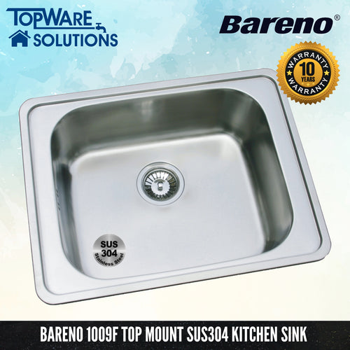 BARENO Kitchen Sink 1009F, Kitchen Sinks, BARENO - Topware Solutions