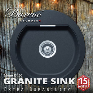 SCHOCK Granite Sink Cristadur Mono R-100 Kitchen Sinks BARENO by SCHOCK - Topware Solutions
