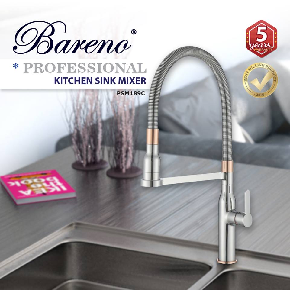 BARENO Professional Kitchen Sink Mixer PSM189, Kitchen Faucets, BARENO PLUS - Topware Solutions