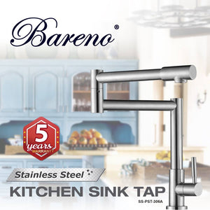 BARENO PLUS Pillar Sink Tap SS-PST-306A, Kitchen Faucets, BARENO PLUS - Topware Solutions
