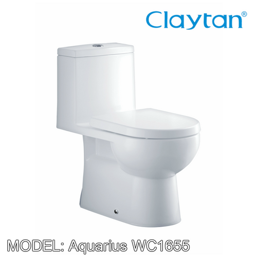 CLAYTAN Aquarius One Piece Pan WC1655, Bathroom W.Cs, CLAYTAN - Topware Solutions