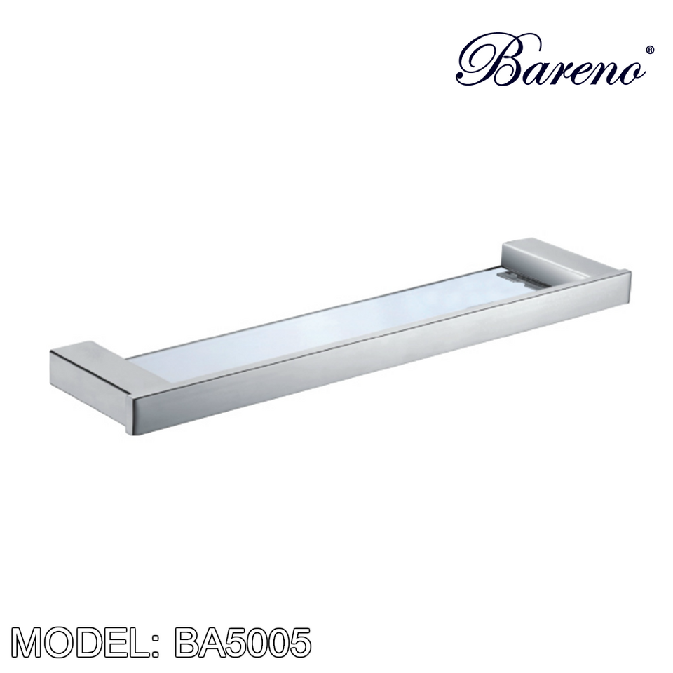 BARENO PLUS Glass Shelf BA5005, Bathroom Accessories, BARENO PLUS - Topware Solutions
