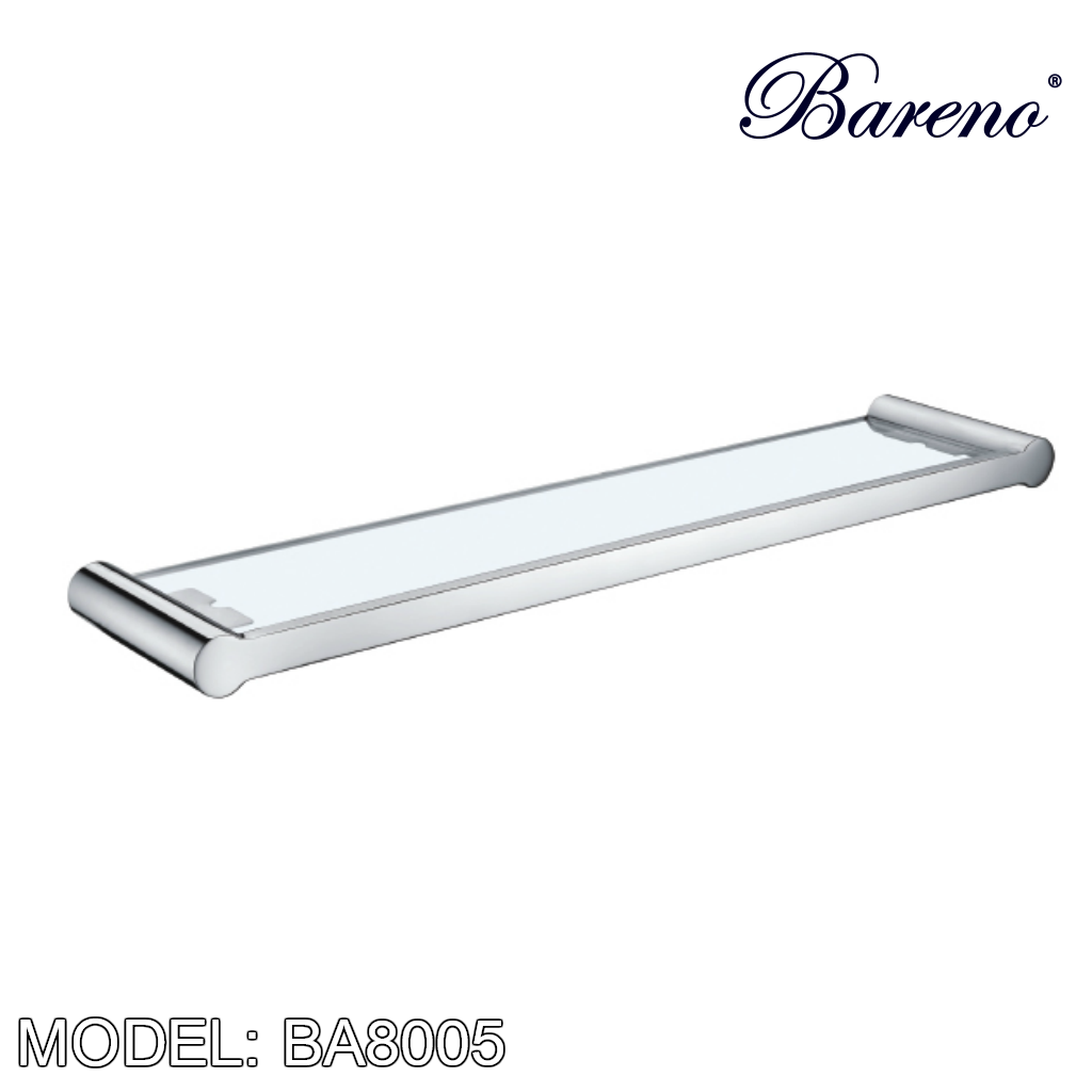 BARENO PLUS Glass Shelf BA8005, Bathroom Accessories, BARENO PLUS - Topware Solutions