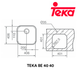 TEKA Stainless Steel Sink BE 40 40, Kitchen Sinks, TEKA - Topware Solutions