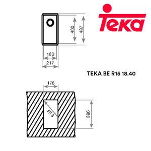 TEKA Stainless Steel Sink BE R15 18.40, Kitchen Sinks, TEKA - Topware Solutions