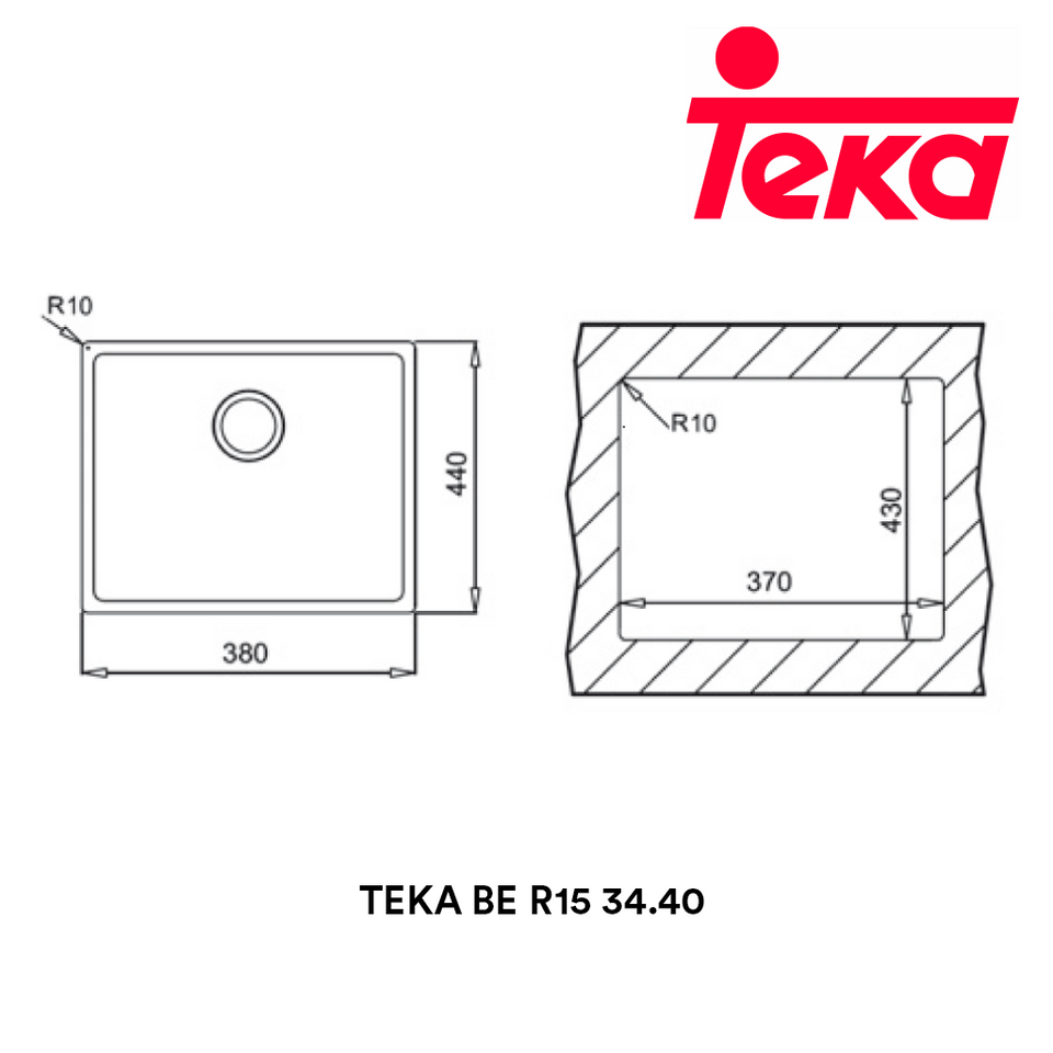 TEKA Stainless Steel Sink BE R15 34.40, Kitchen Sinks, TEKA - Topware Solutions