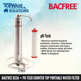 BACFREE BS3A + pH Tech Filter Element Counter Top Portable Drinking Water Filter System, Water Filters, BACFREE - Topware Solutions