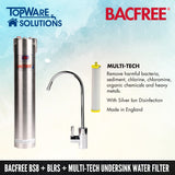 BACFREE BS8 + BLRS Faucet + Multi Tech Filter Element Undersink Drinking Water Filter System, Water Filters, BACFREE - Topware Solutions