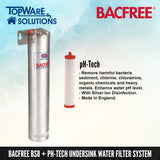 BACFREE BS8 + pH Tech Filter Element Undersink Drinking Water Filter System, Water Filters, BACFREE - Topware Solutions