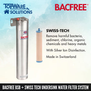 BACFREE BS8 + Swiss Tech Filter Element Undersink Drinking Water Filter System, Water Filters, BACFREE - Topware Solutions