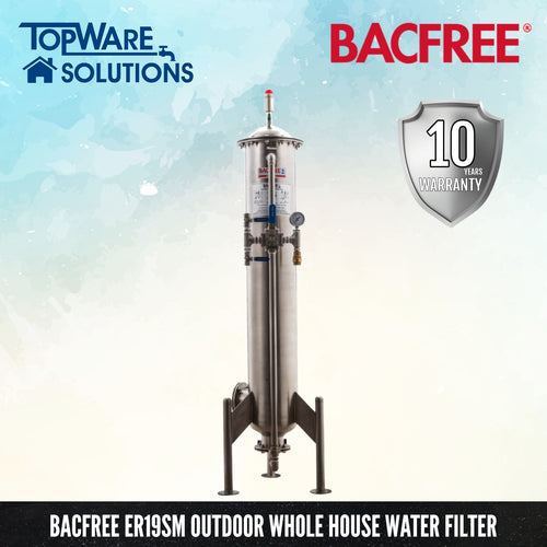BACFREE ER Series ER19SM (Matte Finishing) Whole House Outdoor Filter, Water Filters, BACFREE - Topware Solutions
