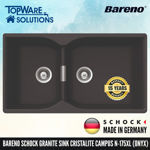 SCHOCK Granite Sink Cristalite Campus N-175XL, Kitchen Sinks, BARENO by SCHOCK - Topware Solutions