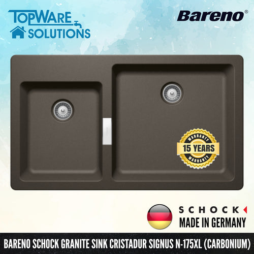 SCHOCK Granite Sink Cristadur Signus N-175, Kitchen Sinks, BARENO by SCHOCK - Topware Solutions