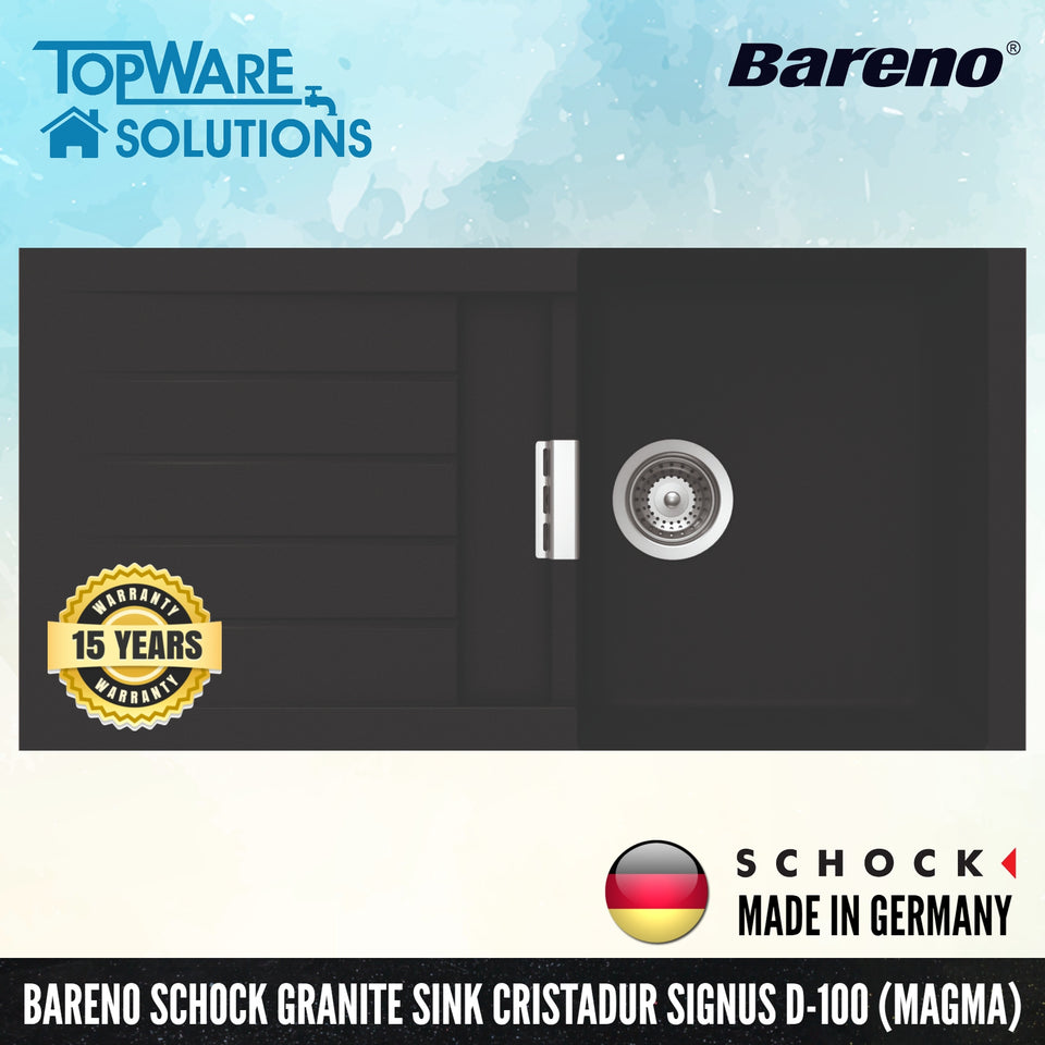 SCHOCK Granite Sink Cristadur Signus D-100, Kitchen Sinks, BARENO by SCHOCK - Topware Solutions