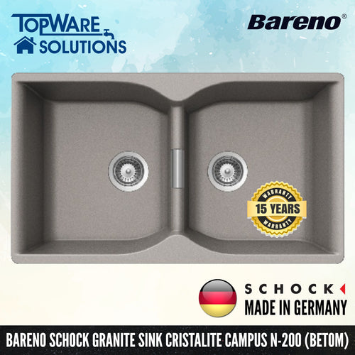 SCHOCK Granite Sink Cristalite Campus N-200, Kitchen Sinks, BARENO by SCHOCK - Topware Solutions