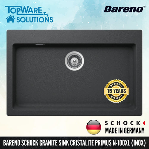 SCHOCK Granite Sink Cristalite Primus N-100XL, Kitchen Sinks, BARENO by SCHOCK - Topware Solutions