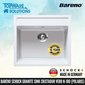 SCHOCK Granite Sink Cristadur Vero N-100, Kitchen Sinks, BARENO by SCHOCK - Topware Solutions