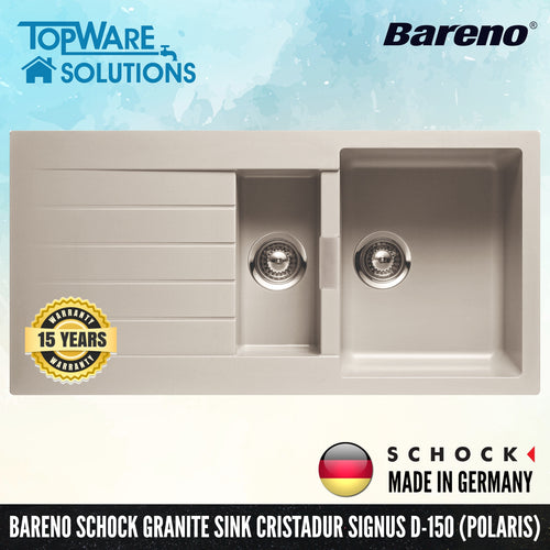 SCHOCK Granite Sink Cristadur Signus D-150, Kitchen Sinks, BARENO by SCHOCK - Topware Solutions