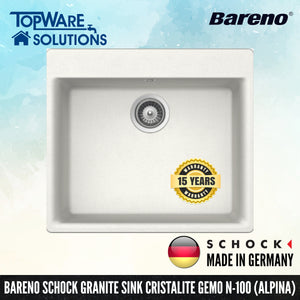 SCHOCK Granite Sink Cristalite Gemo N-100, Kitchen Sinks, BARENO by SCHOCK - Topware Solutions