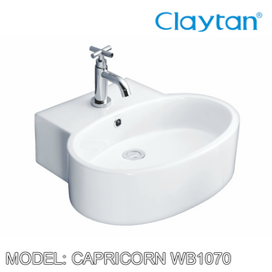 CLAYTAN Capricorn Counter Top Basin WB1070, Bathroom Basins, CLAYTAN - Topware Solutions
