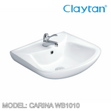 CLAYTAN Carina Wall Hung Basin WB1010, Bathroom Basins, CLAYTAN - Topware Solutions