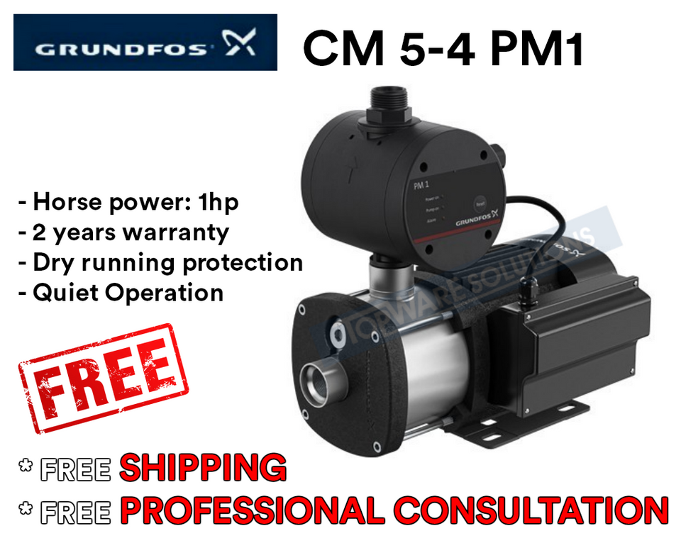 GRUNDFOS Water Pump CM5-4PM1 Made in Denmark 2 Year Warranty, Water Pumps, GRUNDFOS - Topware Solutions