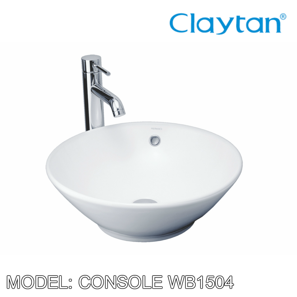 CLAYTAN Console Counter Top Basin WB1504AC, Bathroom Basins, CLAYTAN - Topware Solutions