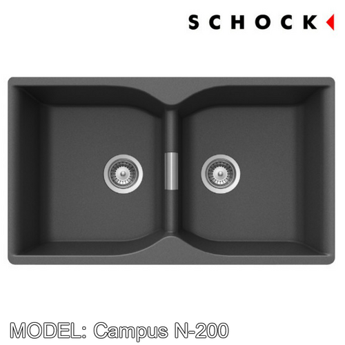 SCHOCK Granite Sink Cristalite Campus N-200 Kitchen Sinks BARENO by SCHOCK - Topware Solutions