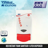 DEB Hand Sanitizer Foam Dispenser 1L, Hygiene Solution, DEB - Topware Solutions