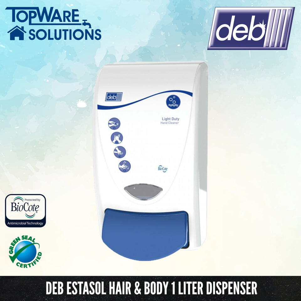 DEB Estosol Hair & Body Shampoo Dispenser 1L, Hygiene Solution, DEB - Topware Solutions